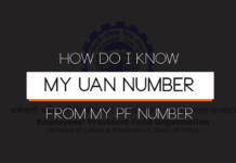 How do I know my UAN number from my PF number