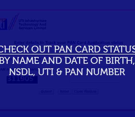 pan card status by name and date of birth