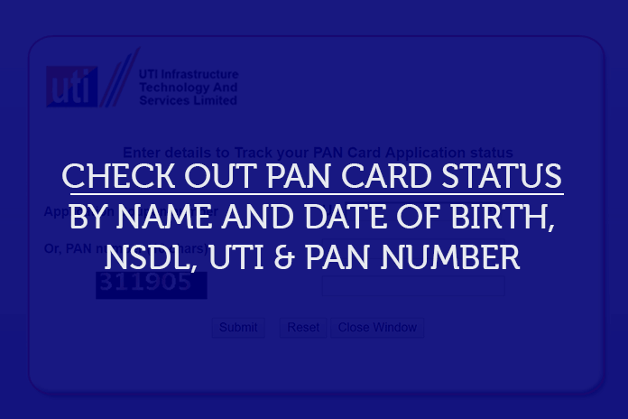 how to check pan card status on NSDL website