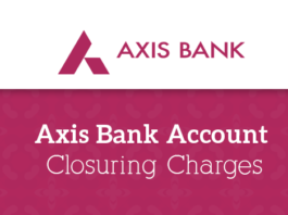 Fees and Charges - Axis Bank Account Closure Charges