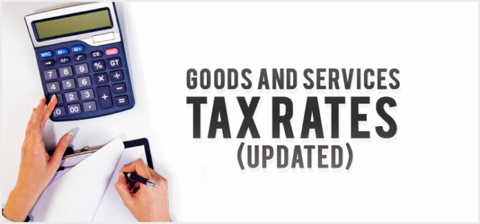Complete Goods and Services Tax Rates (Updated)